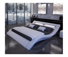 LED platform Bed in black or White with LED Light