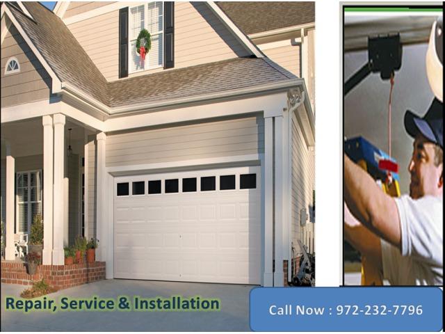 Residential Garage Door Repair Installation Services Rowlett Tx