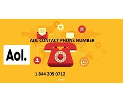 Aol Contact Phone Number  1844 205 0712