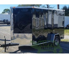 6 feet x10 Enclosed Trailer w/One 2990 pound Axle,Bar Lock Side Door GREAT TRAILER