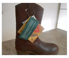New Leather Wellington Safety Toe Boot