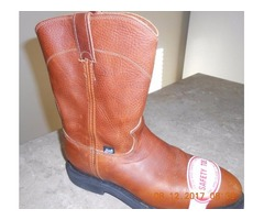 New Leather Justin Safety Toe Boot