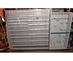Commercial Display shelves on wheels
