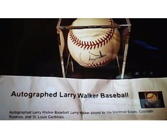 LARRY WALKER - Autographed Baseball