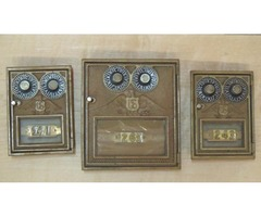 Vintage Brass double combation postoffice door