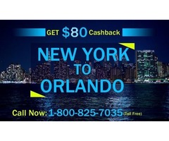 Save 80USD on New York to Orlando Flights
