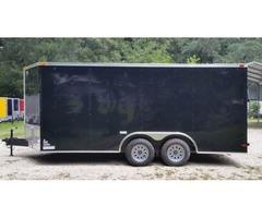 New Black Ext 8.5x16ft. Racing Trailer with Side Door &D Rings