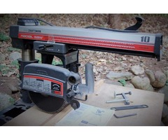 "RADIAL ARM 10"" contractor's saw"