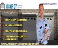 New Garage Door Installation Missouri City, TX Starting $26.95
