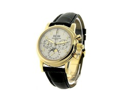 Patek Philippe Watches - Yellow Gold on Strap with White Dial Essential-Watches