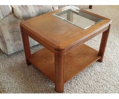Living room end tables and coffee table