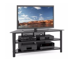 Black Wooden Veneer TV Stand