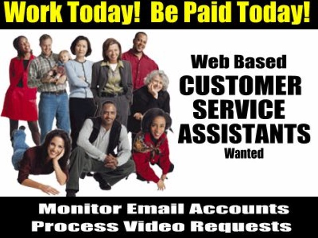 HELP WANTED!  CUSTOMER SERVICE ASSISTANTS NEEDED IN YOUR AREA PAYS $450+/DAY! | free-classifieds-usa.com