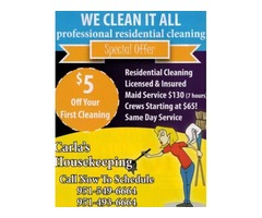 AFTER YOUR 3RD CLEANING, GET THE 4TH ONE FREE