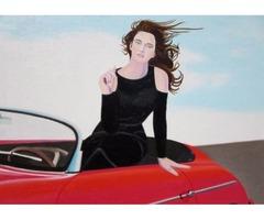 Re-Created Girl in Porsche 356 by Robert S. Lee