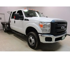 2014 Ford F350 4wd V8 Crew Cab Flat Bed Automatic