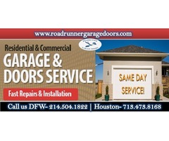 New Residential Garage Door Installation Dallas, TX Only @ $26.95