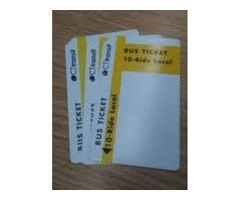 CT Transit 10 Trip Bus Passes (3 available)