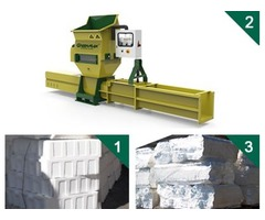 Styrofoam compactors of GREENMAX APOLO Series