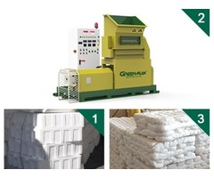 Polystyrene foam melting machine of GREENMAX MARS SERIES