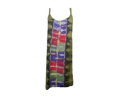 Womens Shift Tank Dress Stonewashed Tie Back Bohemian Hippie Chic Dresses
