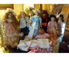 9 Porcline Dolls Rose and Anastash collection