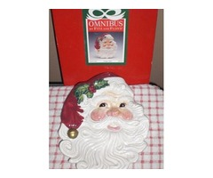 XMAS SANTA serving plate S&P shakers REDUCED