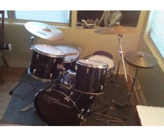 Drum Kit for Sale. Zildjian and Sabian cymbols with stands included