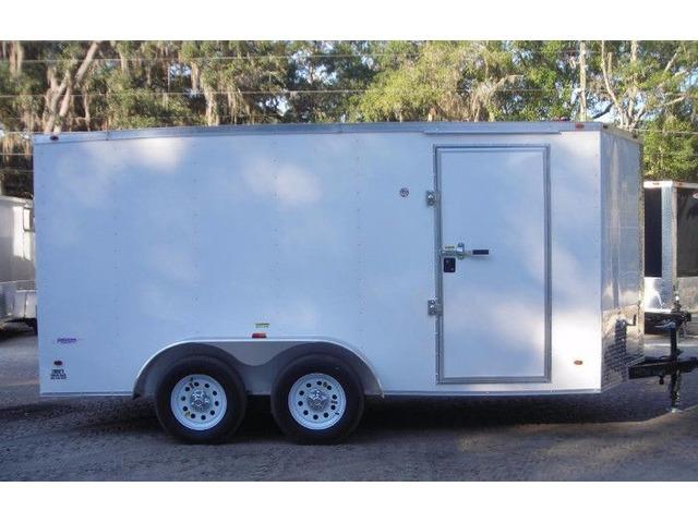 6x14 Tandem Axle Enclosed Trailer Ramp V Nose Leds 6