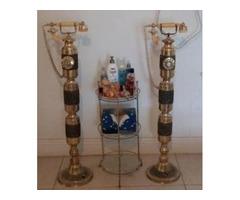 Brass/Glass Vanity Stand