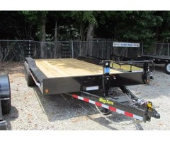 2017 Big Tex Equipment Trailer w/ Diamond Plate Drive Over Fenders 8'6x20'