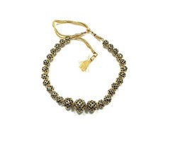 Womens Statement Necklace Gold Nugget Choker Festive Jewelry , Gift for Mom
