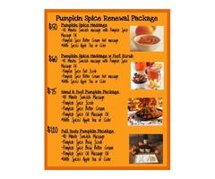 Pumpkin Spice Massage & Skin Treatments -Clear Lake