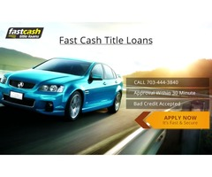 Fast Cash Title Loans is ready to help you get the cash you need,