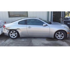 2005 Infinity G35 / Right rear damage $1,800.