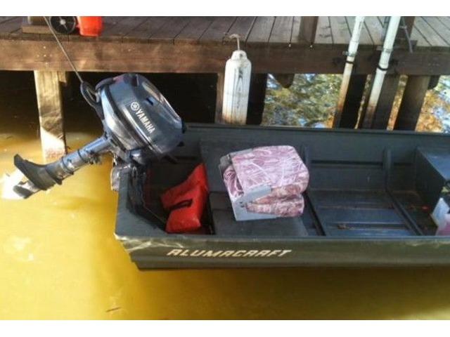 Nice Jon Boat with Yamaha Motor and Trolling Motor