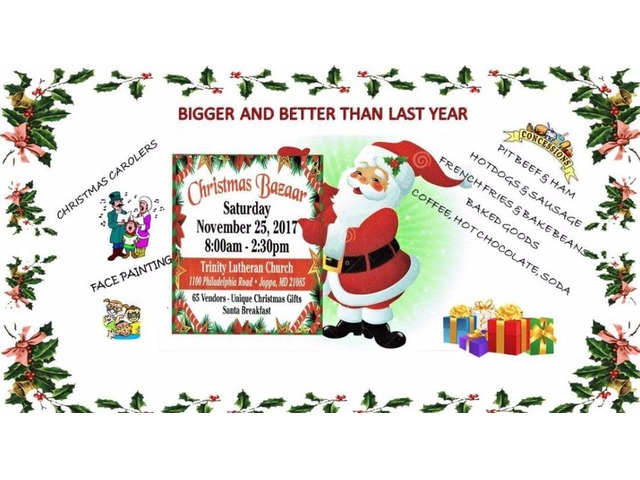 TRINITY LUTHERAN CHURCH ANNUAL CHRISTMAS BAZAAR AND BREAKFAST WITH SANTA | free-classifieds-usa.com