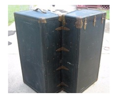 Black and gold steamer trunk