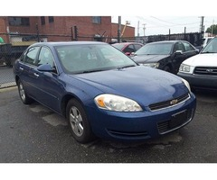 06 Chevy Impala #3322, V-6 sedan, $1190 down and $57.64 weekly payment