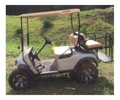 2000 EZGO TXT Electric Golf Cart Silver