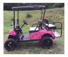 2013 EZGO RXV Electric Golf Cart Pink Mossy Oak Camo