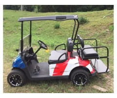2009 EZGO RXV Gas Golf Cart Stars & Stripes