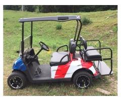 2009 EZGO RXV Gas Golf Cart Stars & Stripes