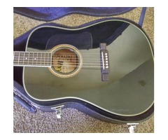 Black Washburn Acoustic Guitar