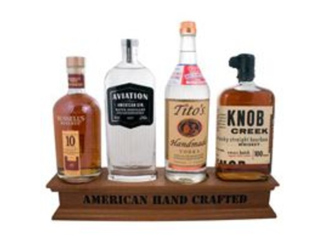 Custom Wood Bottle Displays