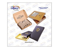 Custom Printed Apparel Packaging Boxes Wholesale