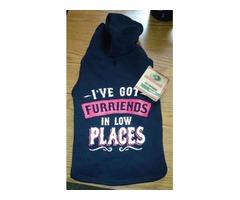 For sale, a fleece dog hoodie