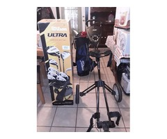 I have Golf clubs, bag and cart that have never been used