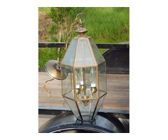 Three Bulb Brass Foyer Light