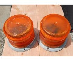 Two ECCO amber strobe lights